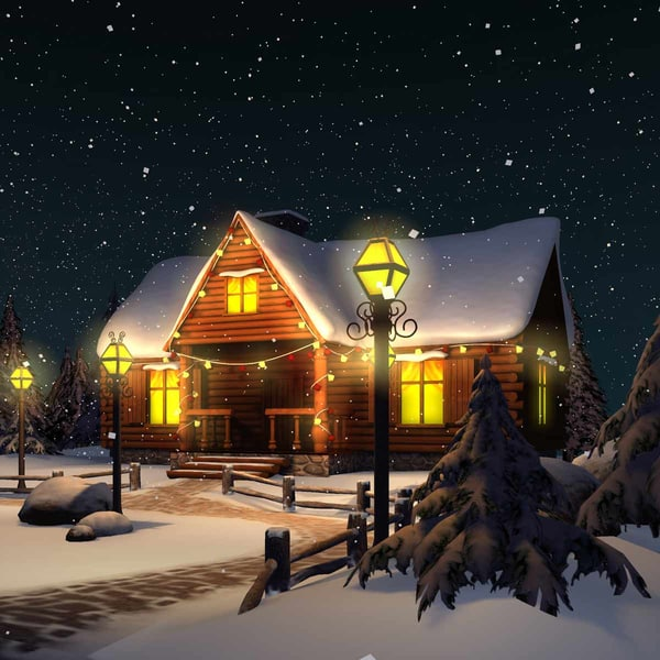 Winter Snow Christmas Scene 3D Models