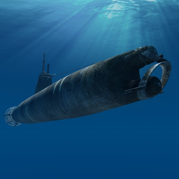 Kouh youteki A-Type submarine 3D Models
