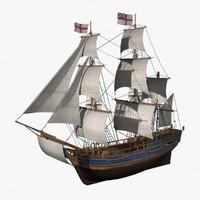 HMS Bounty 3D models