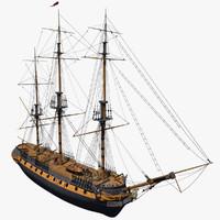 HMS Surprise 3D models