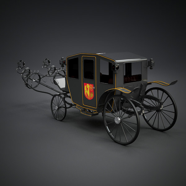Carriage and Harness 3D Models