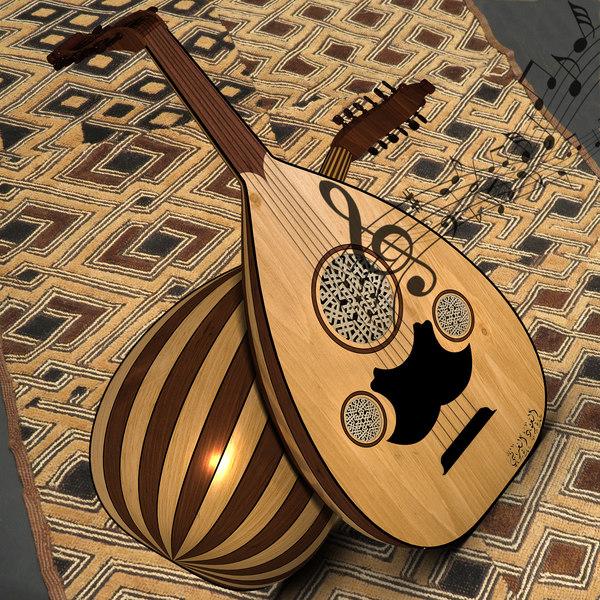 Arabic lute (Oud) 3D Models