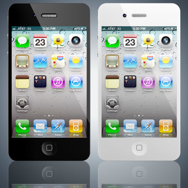 Apple iPhone 4 3D Models