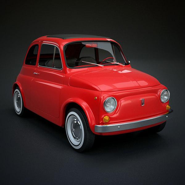 Fiat 500 Classic 3D Models