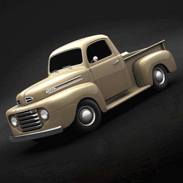 1950 Ford F100 3D Models