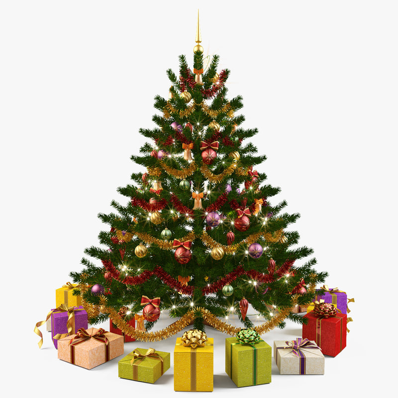 Christmas Tree Pictures High Resolution : Christmas tree d max