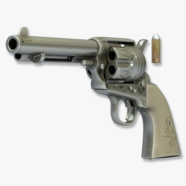 Revolver Colt Peacemaker 3D Models