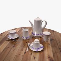 tea set 3D models