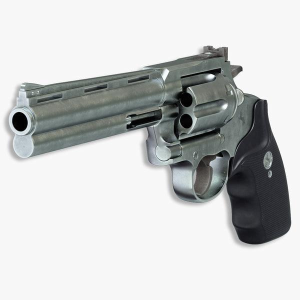 Revolver Colt Anaconda 3D Models