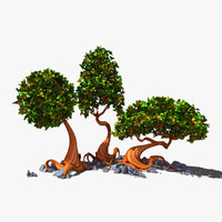 cartoon tree 3D models