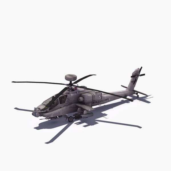 AH64D Longbow Apache 3D Models