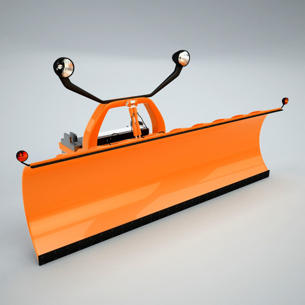 Snowplow Attachment 3D Models