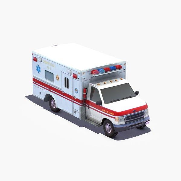 E350 Ambulance 3D Models