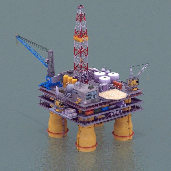 Offshore OilRig 2011 3D Models