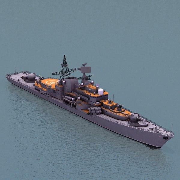 Sovremenny Class DDG 3D Models