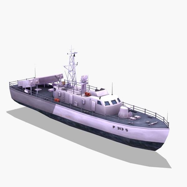 Thondor FAC Missile Boat 3D Models