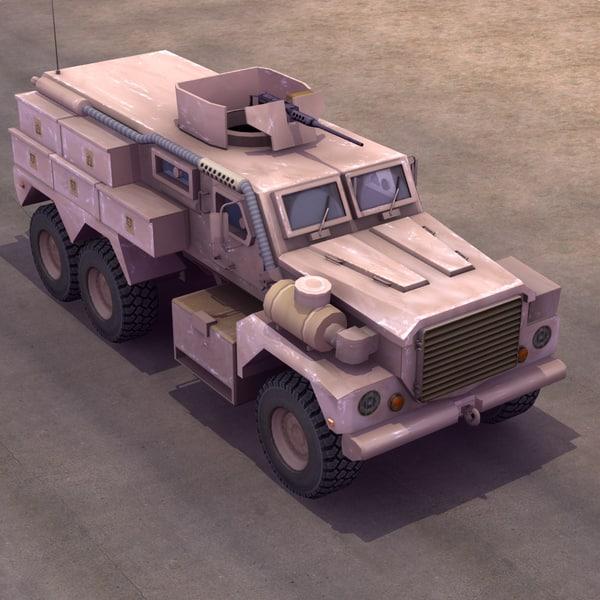MRAP Cougar CATII 6x6 3D Models