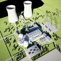 Nuclear Power plant 3D models