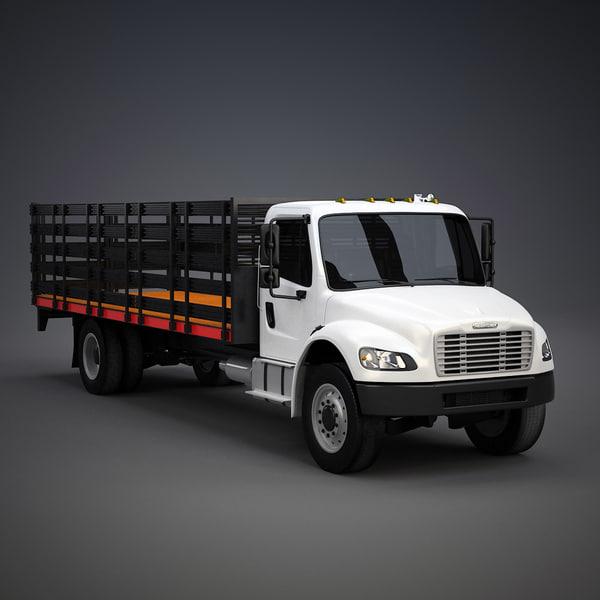 Freightliner M2 Stake Bed 3D Models