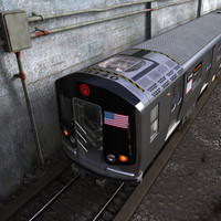 Subway car 3D models