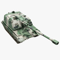 self-propelled howitzer 3D models