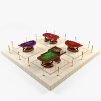 roulette table 3D models