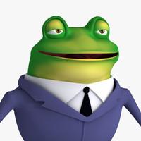 cartoon frog 3D models