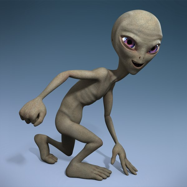 Grey Alien - Rigged 3D Models