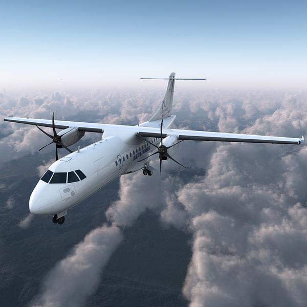 Passenger Aircraft ATR 42 3D Models
