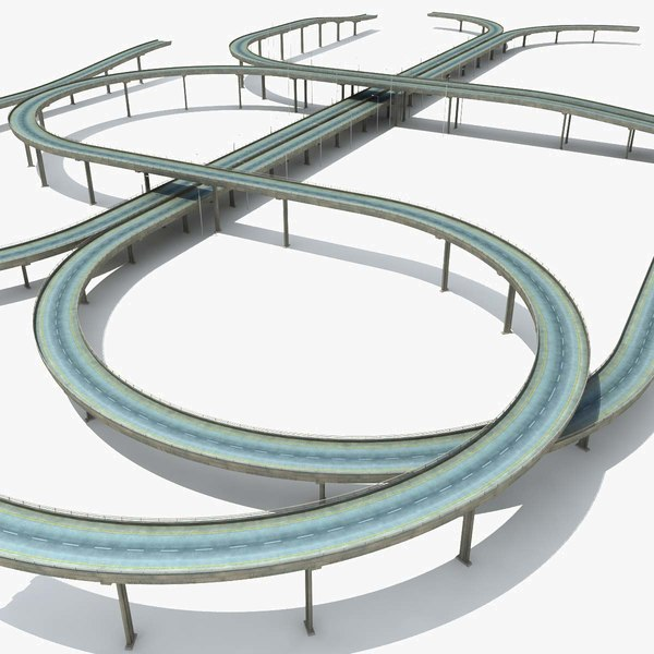 Highway Set 3D Models