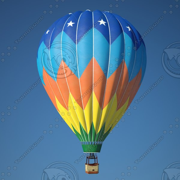 Realistic Hot Air Balloon 3D Models