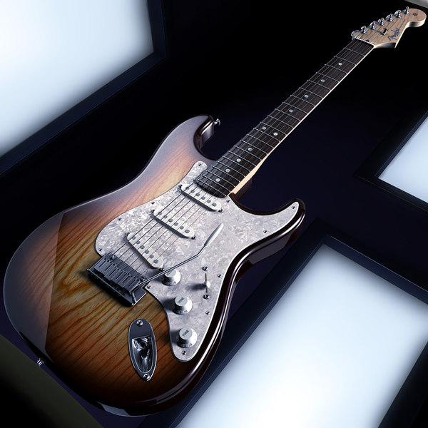 Fender Stratocaster American Standard 3D Models