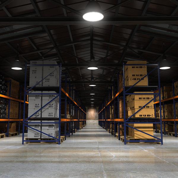 Old Warehouse Loaded 3D Models