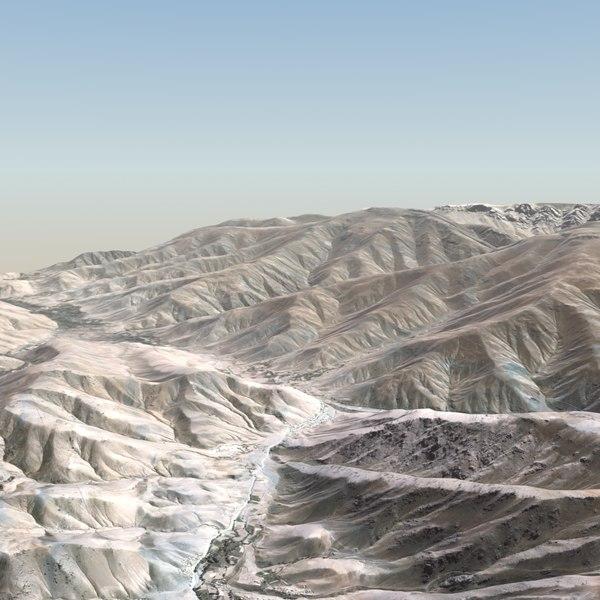 Desert Terrain 20x20Km 3D Models