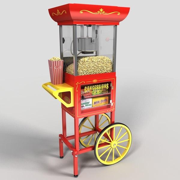 Popcorn Cart 3D Models