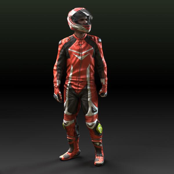Biker - Motorcycle Rider 3D Models
