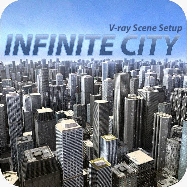 Infinite City 3D Models