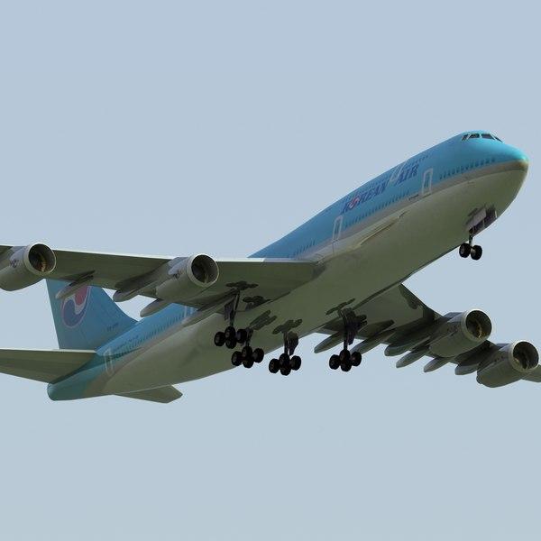 Boeing 747-8i Korea Air 3D Models
