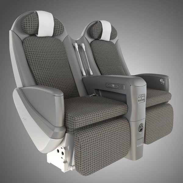JAL Sky Shell Seat 3D Models