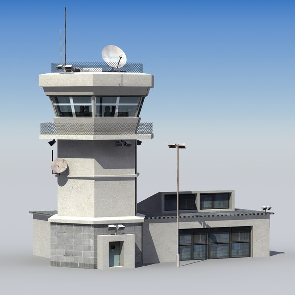 Airbase Control Tower 3D Models