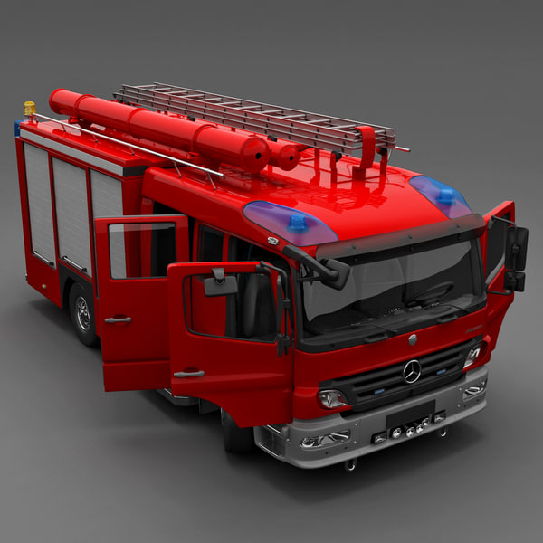Mercedes Atego Fire Truck 3D Models