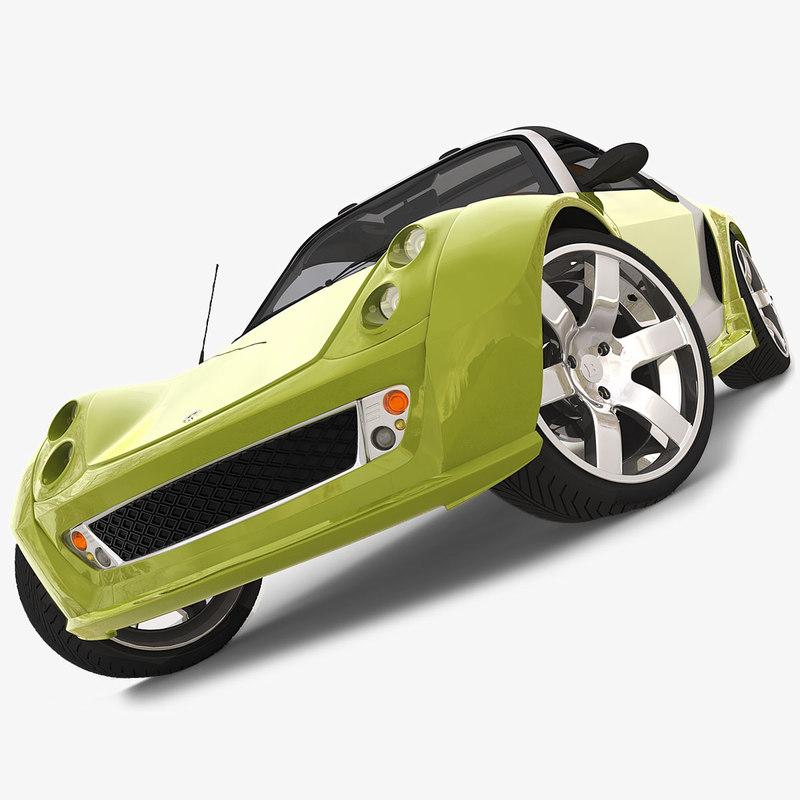 cinema4d smart roadster brabus sedan. Black Bedroom Furniture Sets. Home Design Ideas
