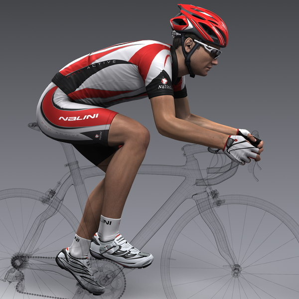 Racing Cyclist 3D Models