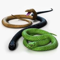 snake 3d models