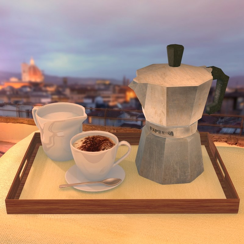 Coffee Pot and Cappuccino