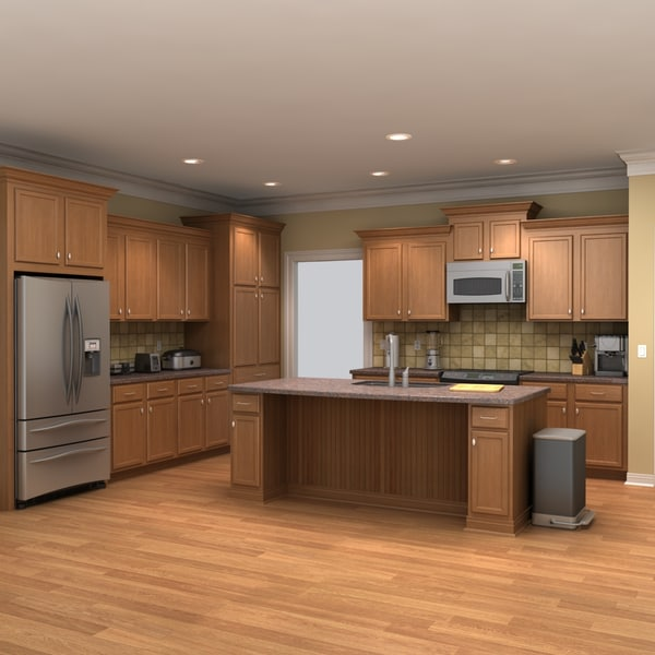 Full Kitchen Scene 1 3D Models