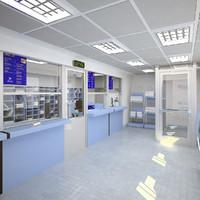post office interior 3D models