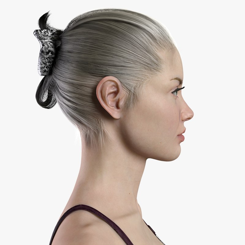3d Model Female Character Body