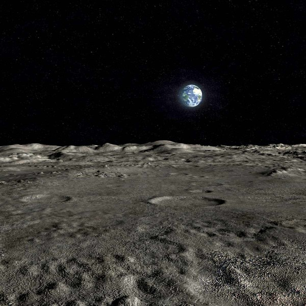 Moon Surface Landscape Stock Photography