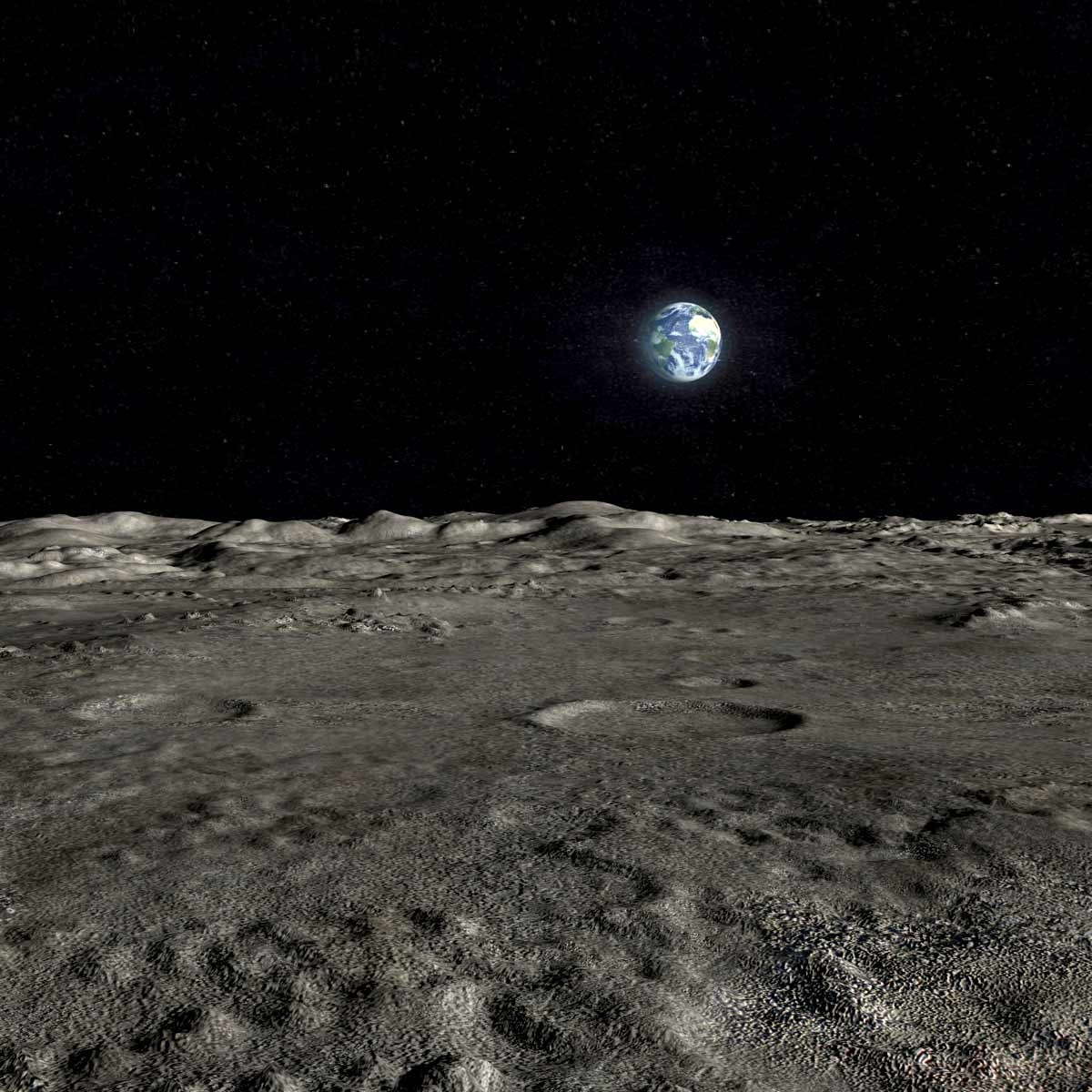 lunar landscape looking at earth - photo #21